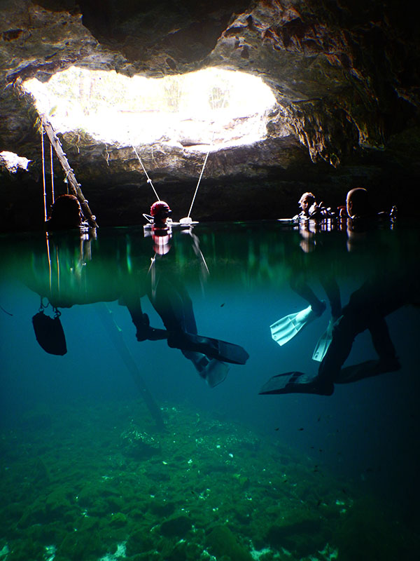Full cave course in Calavera cenote