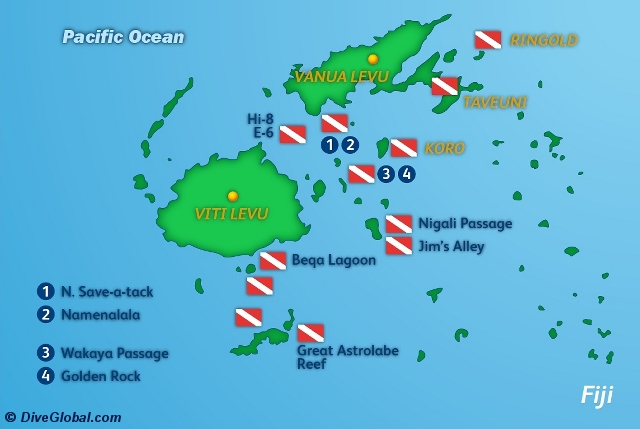 Fiji scuba diving reviews dive map of fiji gumiabroncs Images