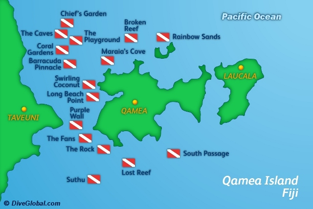 Qamea Dive Map