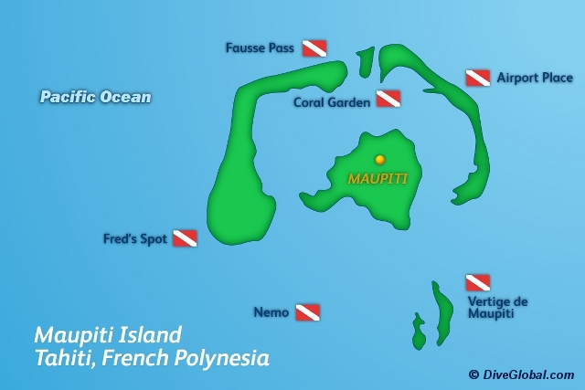 Maupiti Dive Map