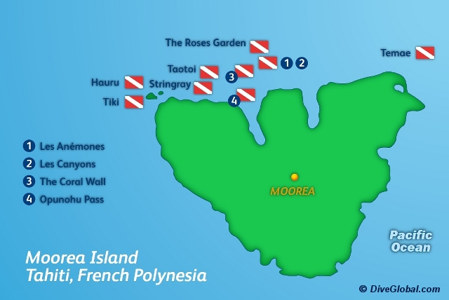 Moorea Dive Map