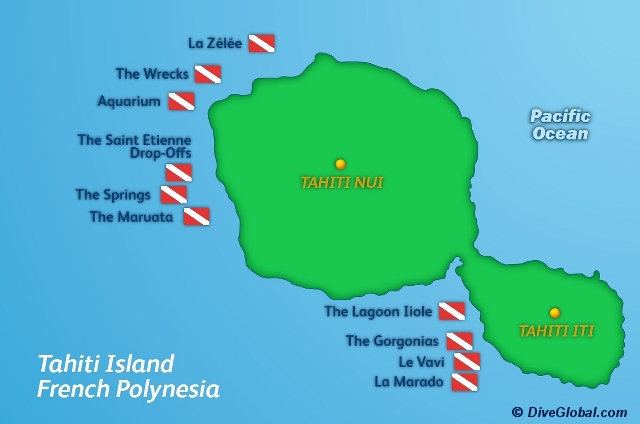 Tahiti Dive Map