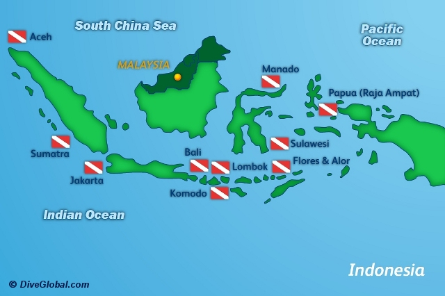 Indonesia Diving Map Indonesia | Scuba Diving Reviews