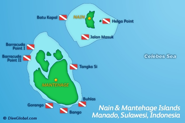 Nain Mantehage Islands Dive Map