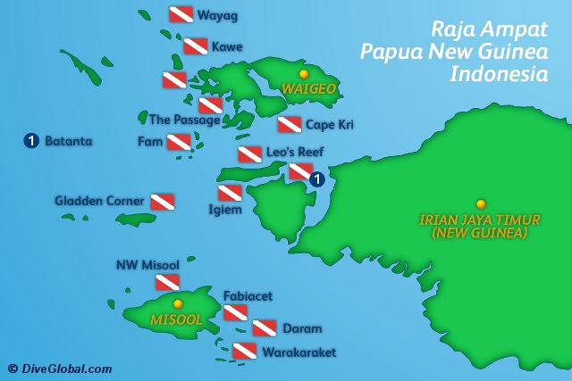 Raja Ampat Dive Map