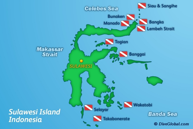 Sulawesi Dive Map