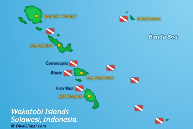 Wakatobi Dive Map