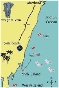 Kenya Dive Map