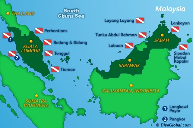 Malaysia Dive Map