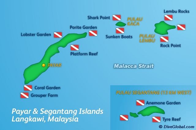 Langkawi Island Dive Map