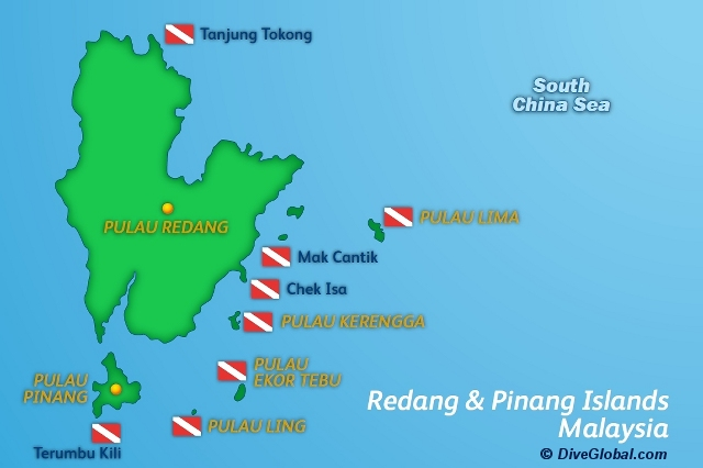 Redang Dive Map