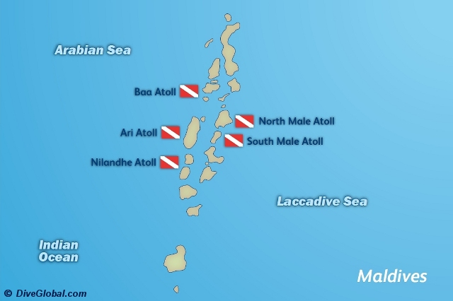 IMaldives ndonesia Dive Map