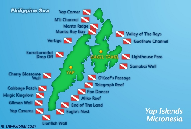 Yap Dive Map