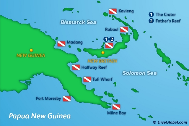 where is papua new guinea located