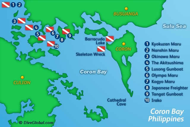 Coron Dive Map