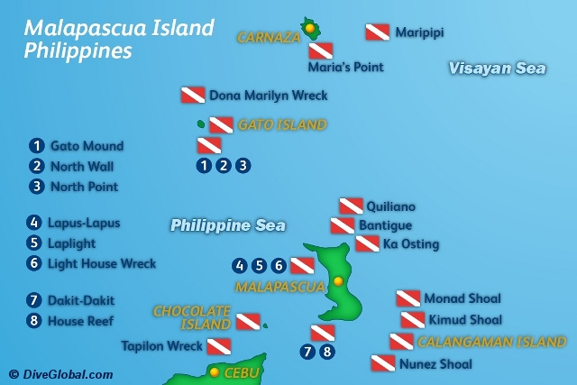 Malapascua Dive Map