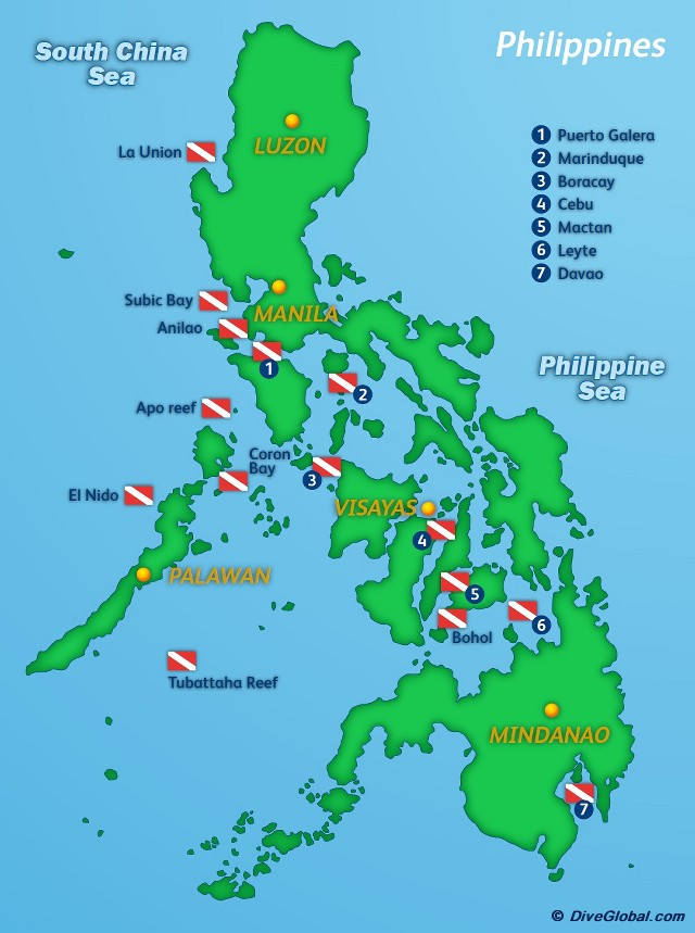 Philippines Dive Map
