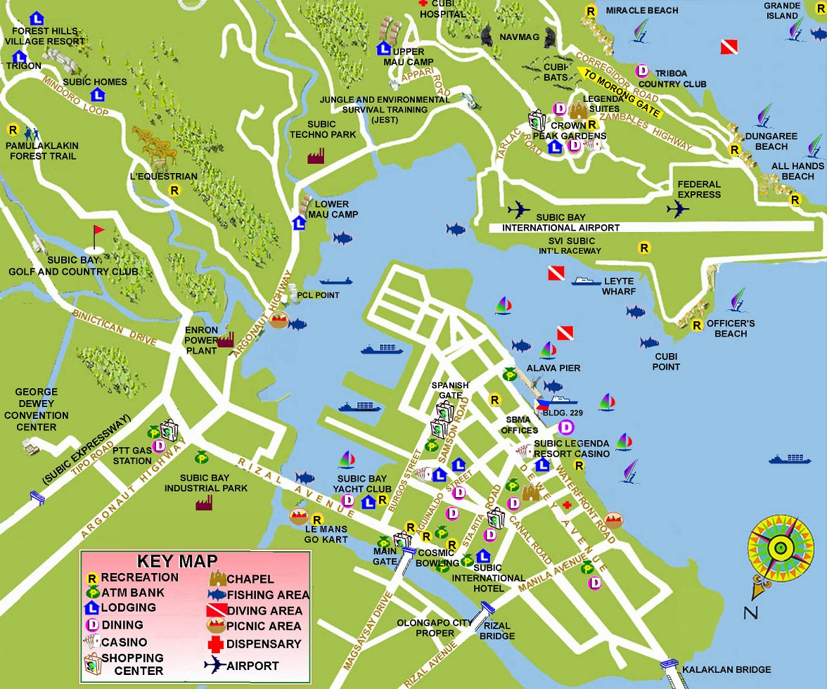 Map of Subic Bay