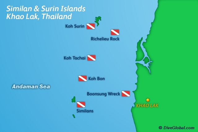 Khao Lak Dive Map