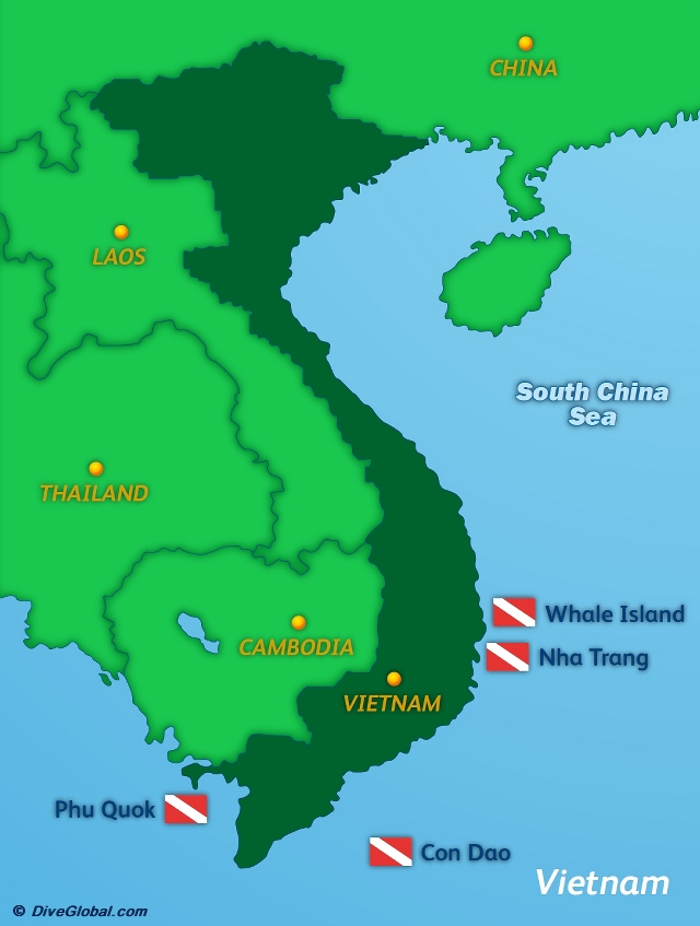 Vietnam Dive Map
